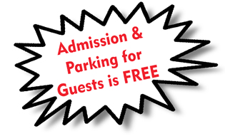 Admission & Parking is FREE for Guest